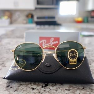 Ray Ban Round Metal Gold Classic RB3447